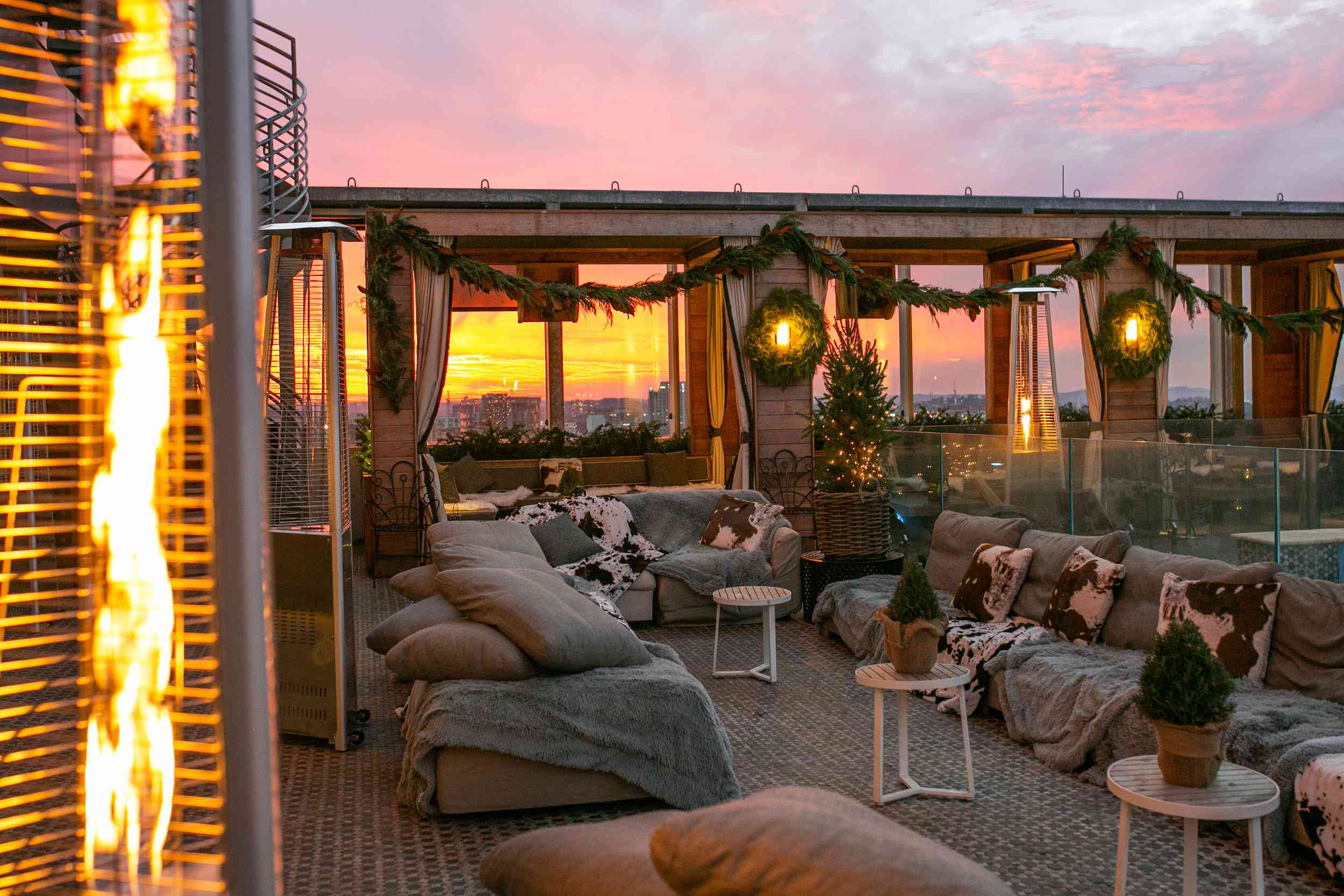 L27 Rooftop Bar at sunset