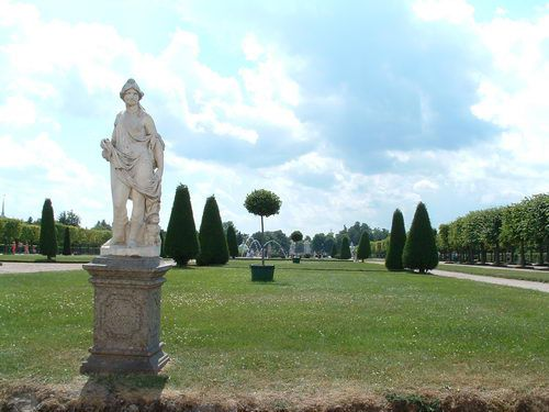 Peterhof Park and Formal Gardens at Peterhof Palace near St. Petersburg