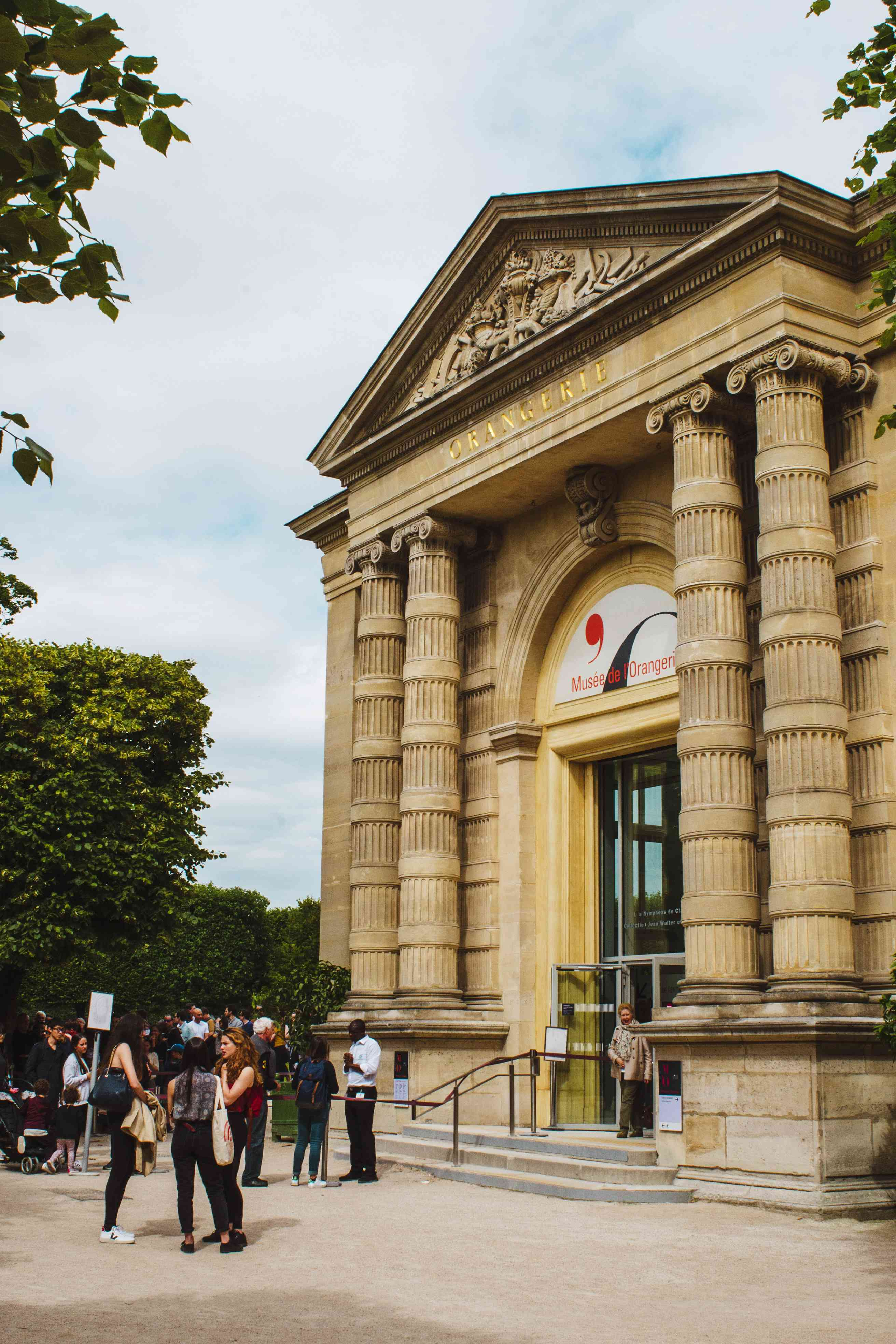 Entrance to the Orangerie museum