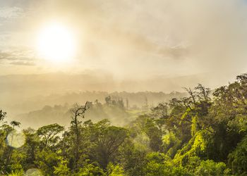 Hazy Sunset at Mountains of Costa Rica