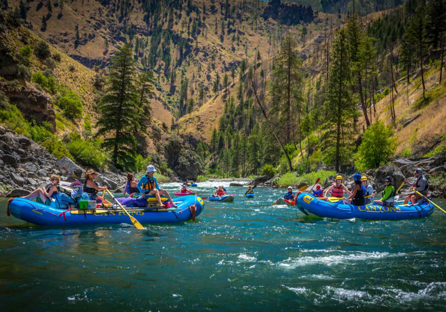 Family Rafting on the Salmon River
