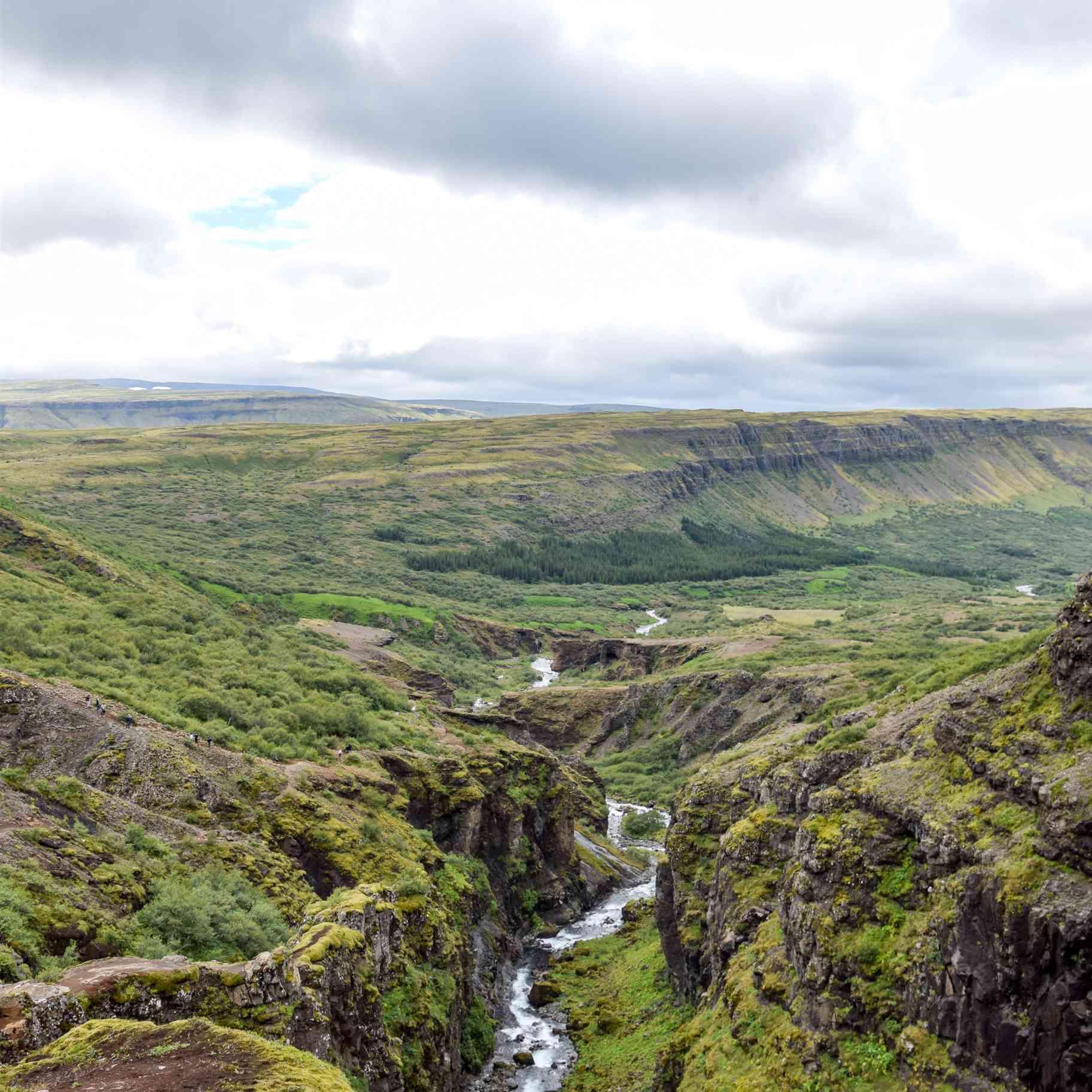 The Hike to Glymer Waterfall