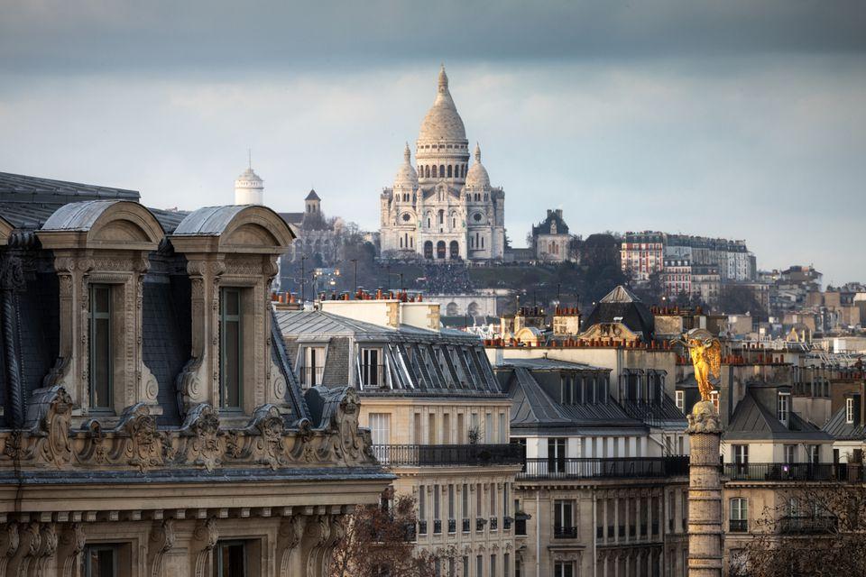 Basílica del Sacré-Coeur de Montmartre y Place du Châtelet, París