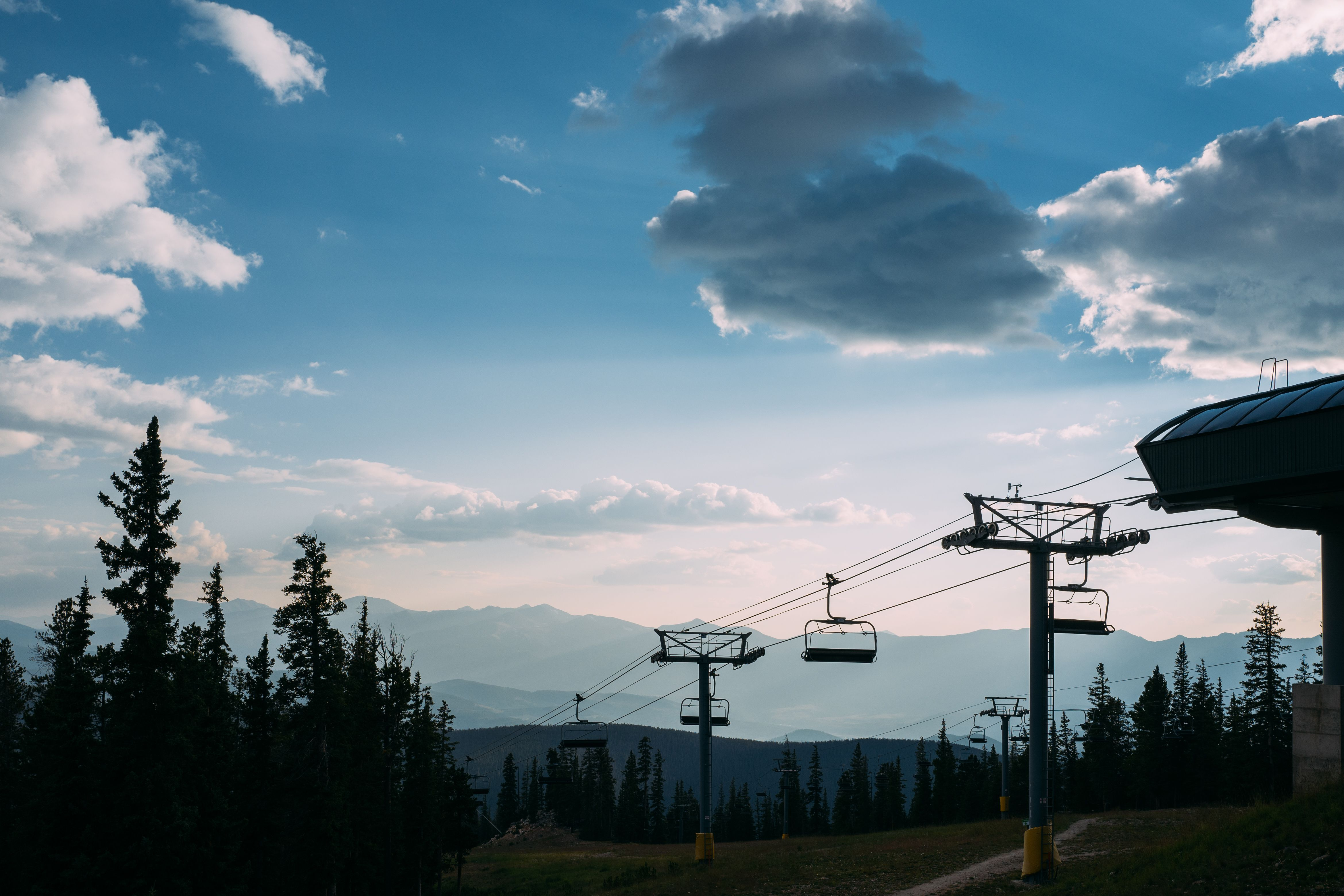 Scenic View of Rocky Mountains in Keystone Colorado