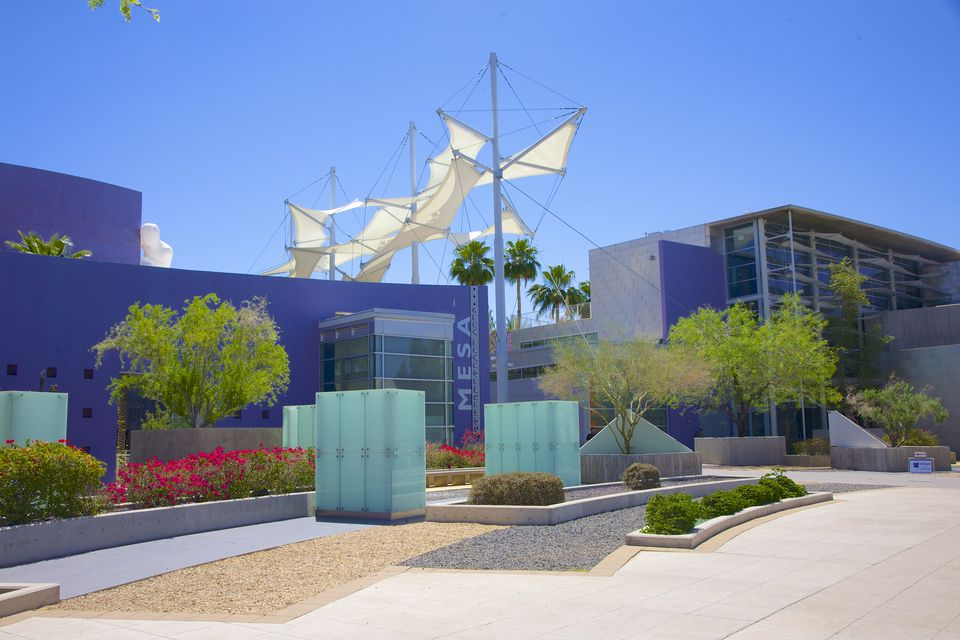 Sidewalk, art museum and performing arts center in Mesa, AZ