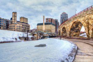 Minneapolis, Minnesota in the winter