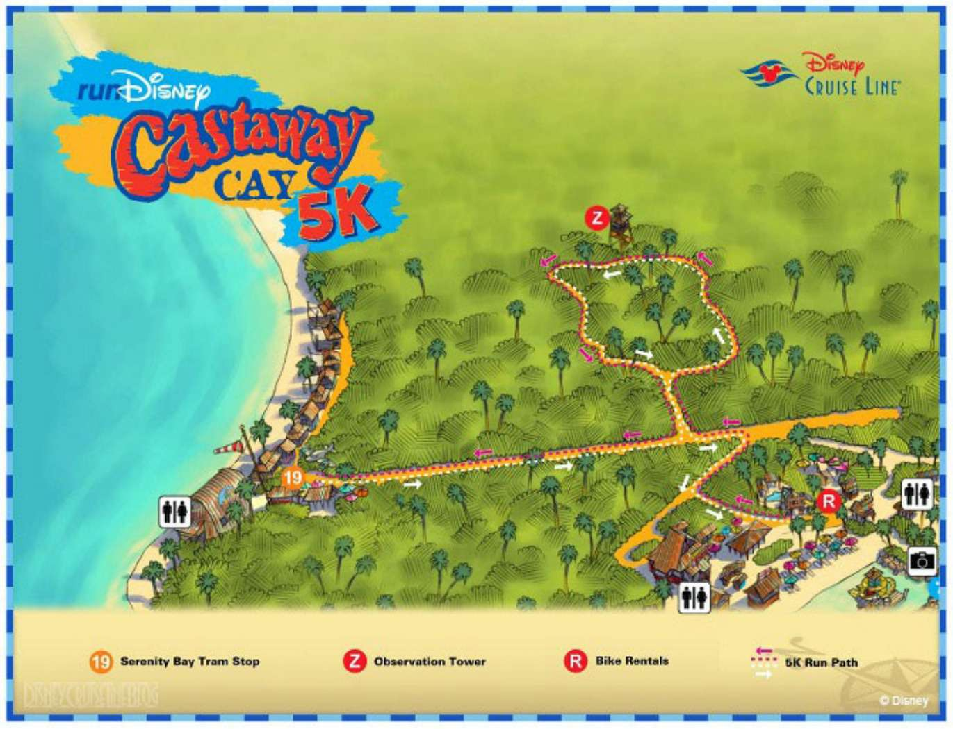 Castaway Cay Map Maps and Information for Disney's Castaway Cay