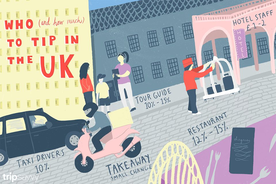 Tipping in the UK illustrator
