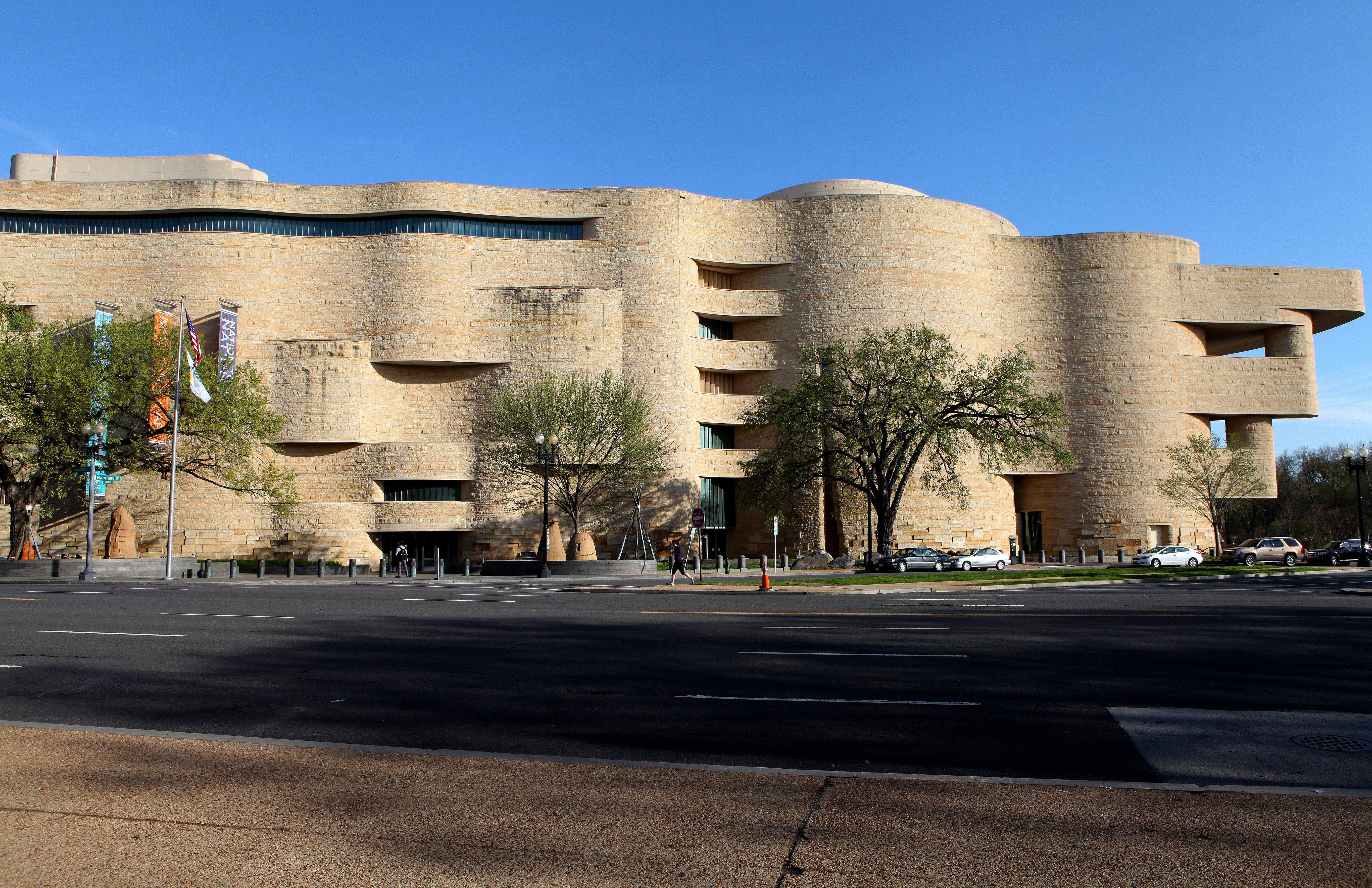 Exterior of the National Museum of the American Indian