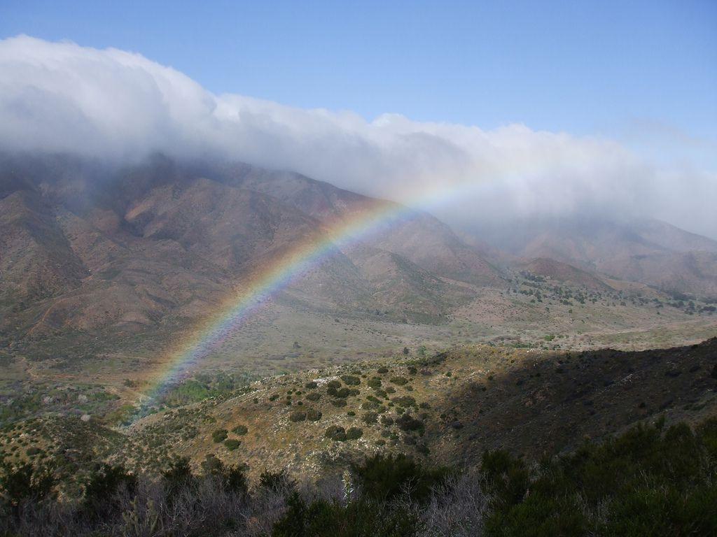 Rainbow in San Felipe Valley