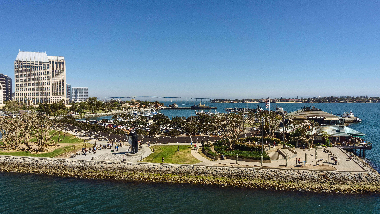 A park along San Diego Bay
