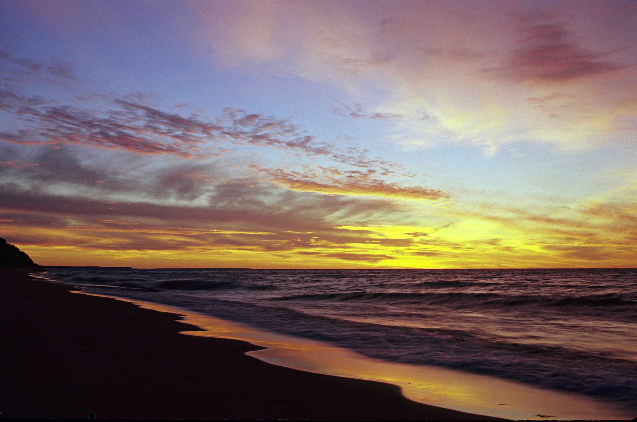 Pictured Rocks National Lakeshore, Lake Superior, Twelve Mile Beach. Michigan's Upper Peninsula