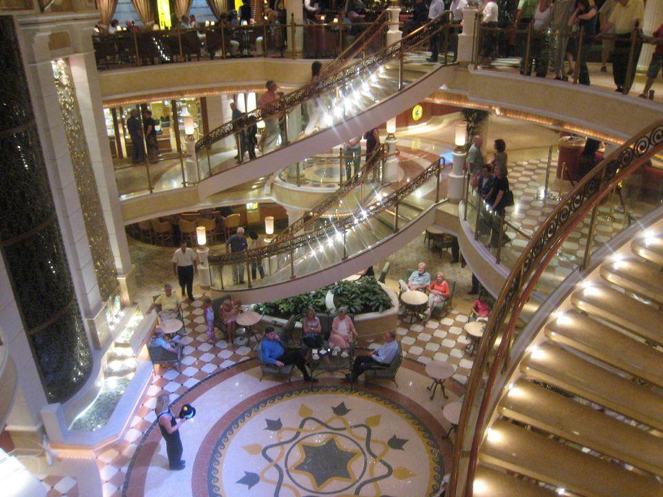main lobby of the Emerald Princess