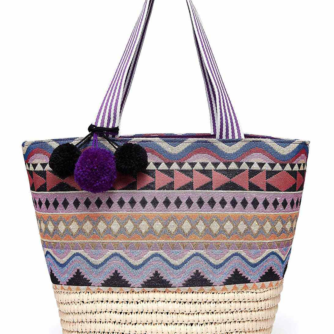 3779bfb9f Best Straw: Daisy Rose Summer Beach Bag. Buy from Amazon