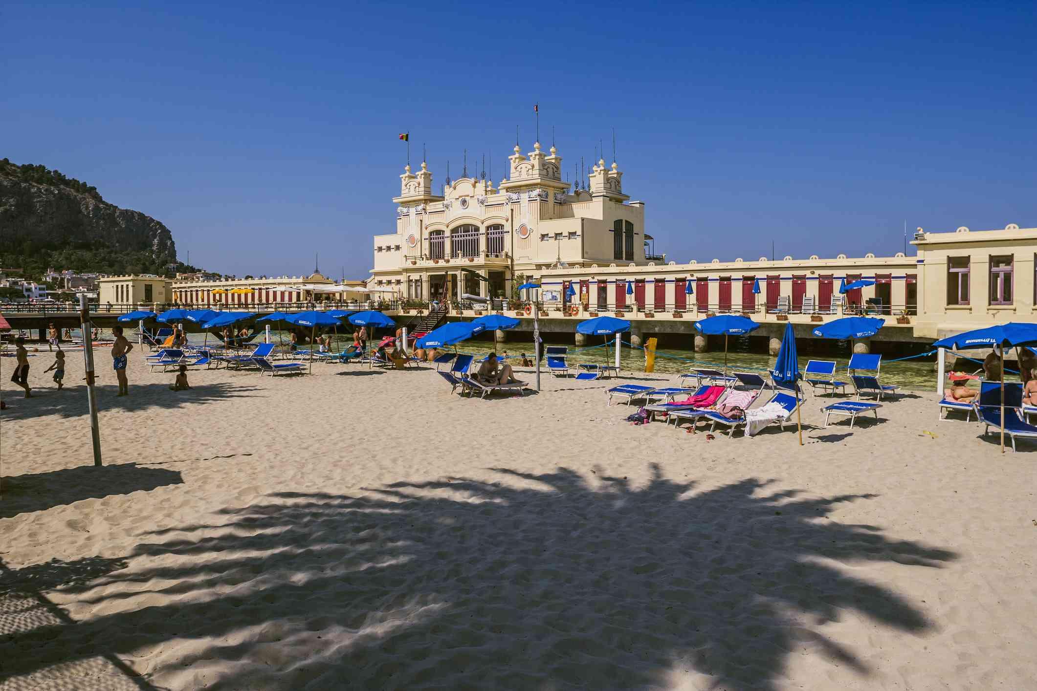 Mondello, beach and Kursaal bathing establishment