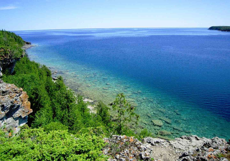 Bruce Trail view de la Bahía de Georgia