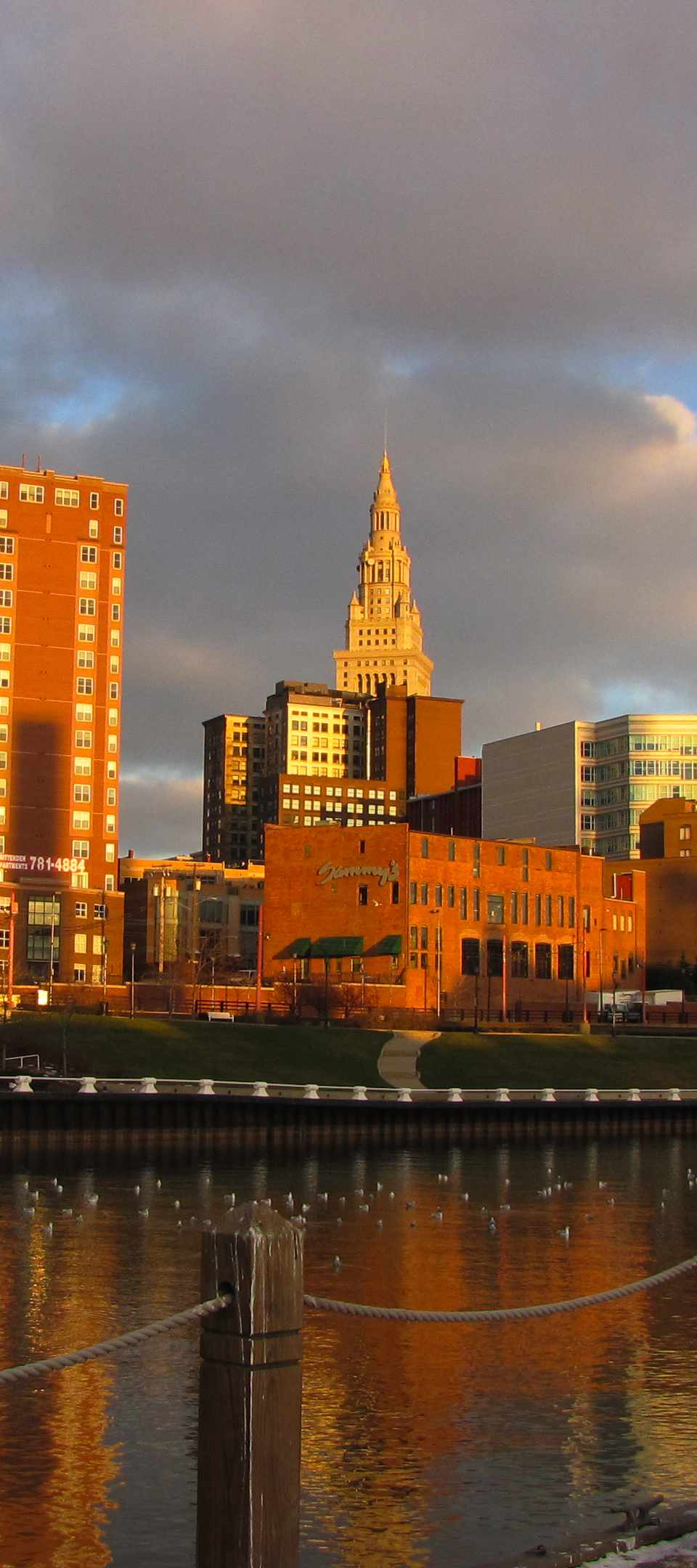 The Flats and downtown Cleveland, Ohio