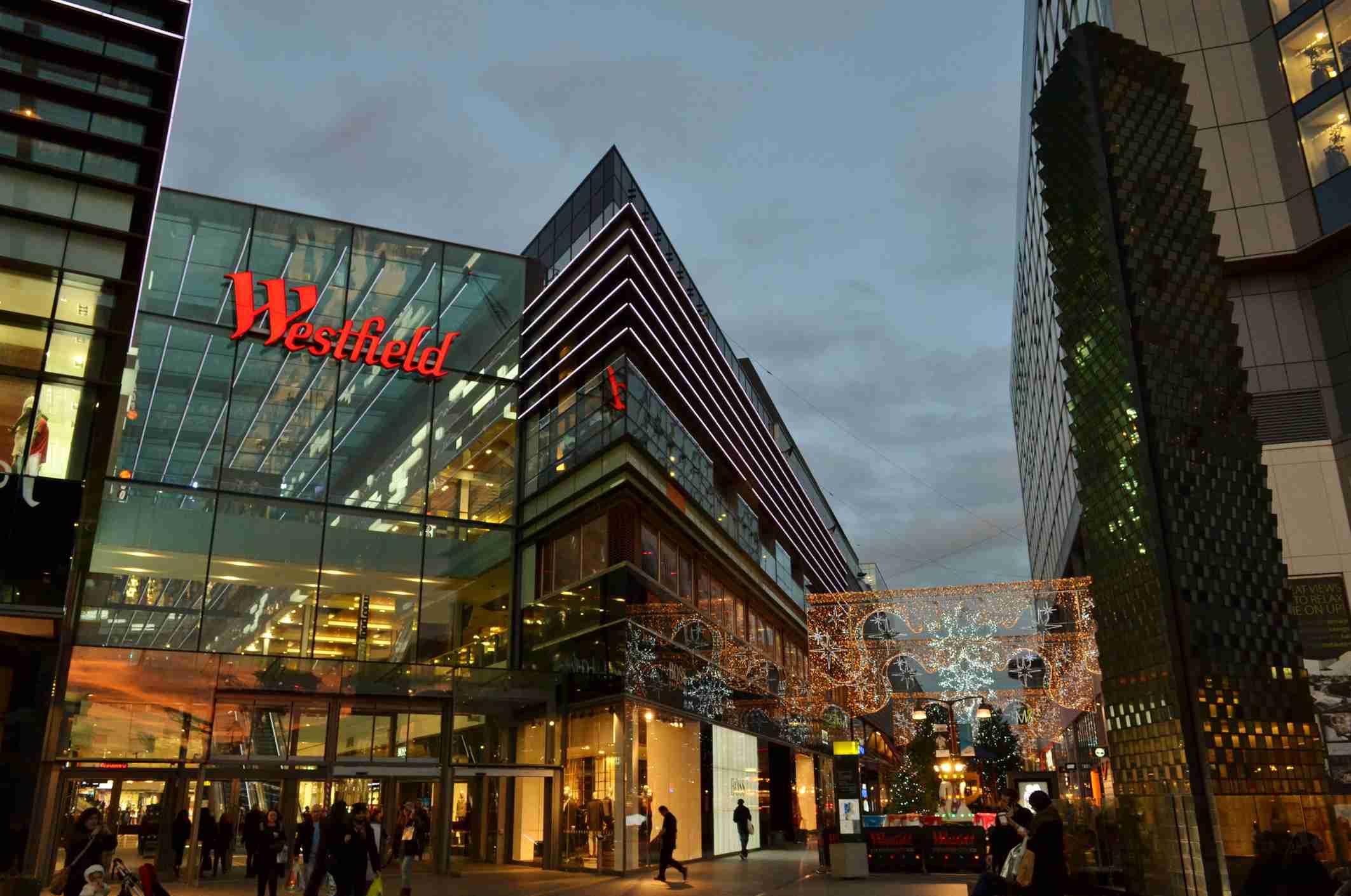 Westfield Stratford City shopping center, London