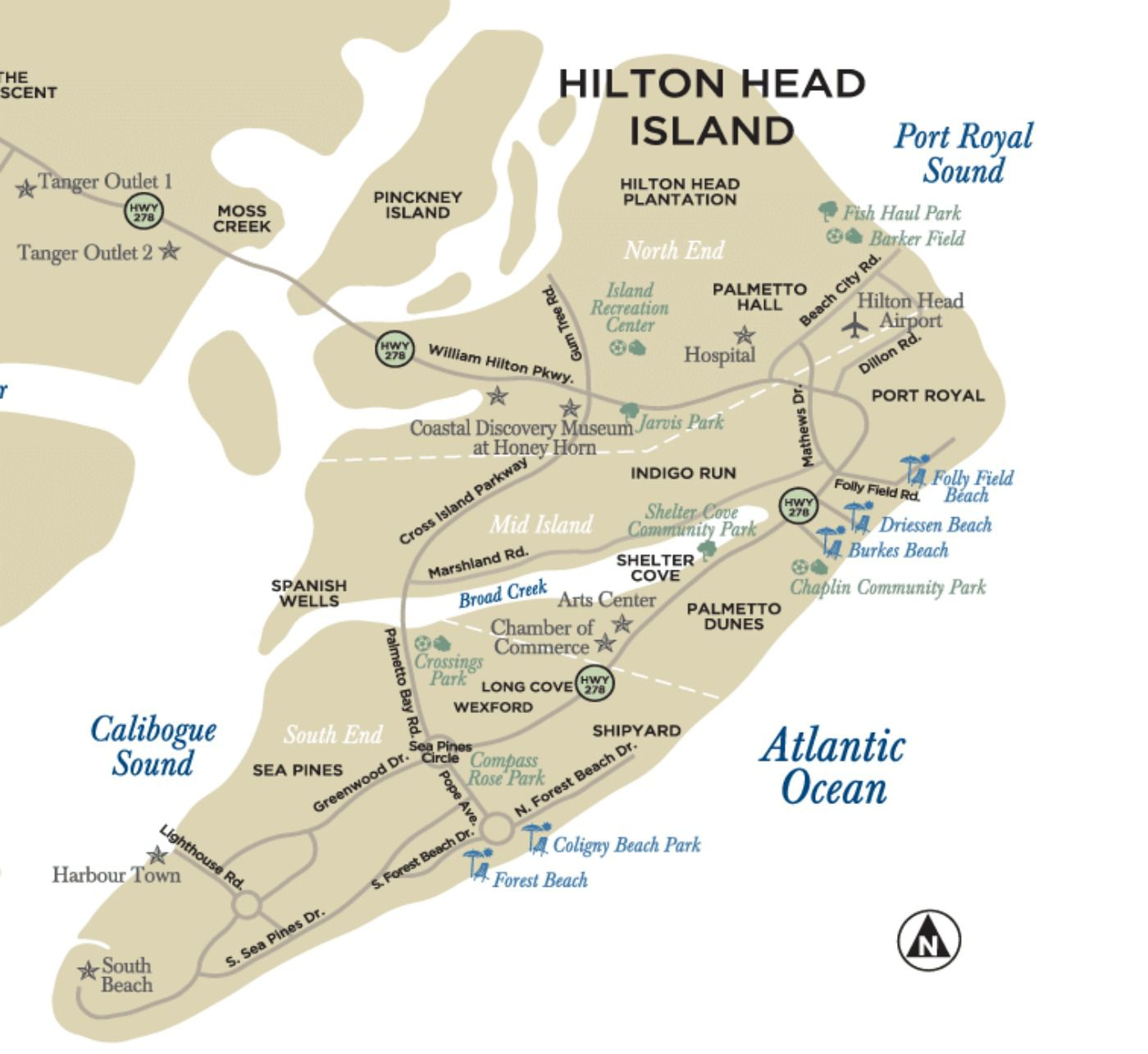 Map Of Hilton Head Maps of Hilton Head Island, South Carolina