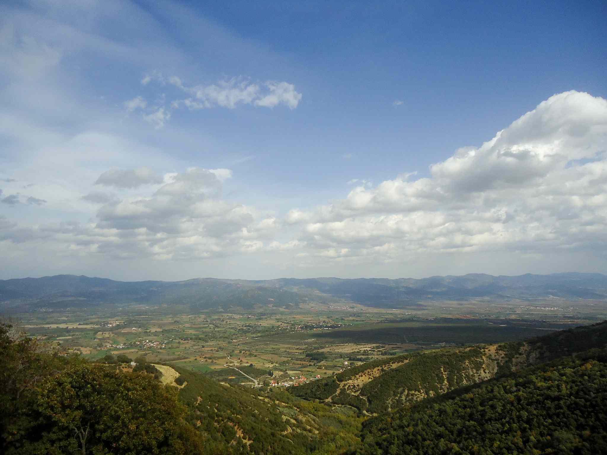 View of Spercheiada Valley from Agathonos Monastery
