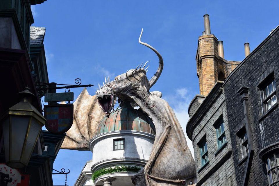 Dragon on top of Gringotts