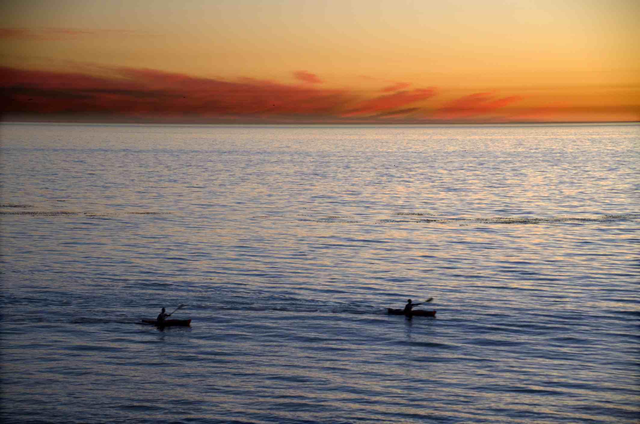 Kayakers at Newport Beach