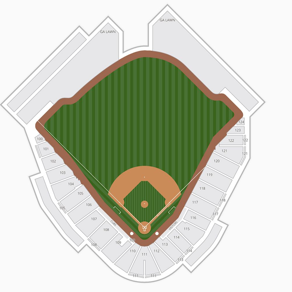 Sloan Park Cubs Park Seating Chart Spring Training