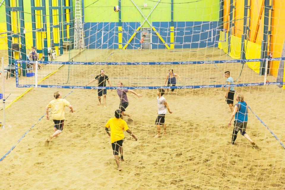 Indoor beach volleyball at Beach Blast