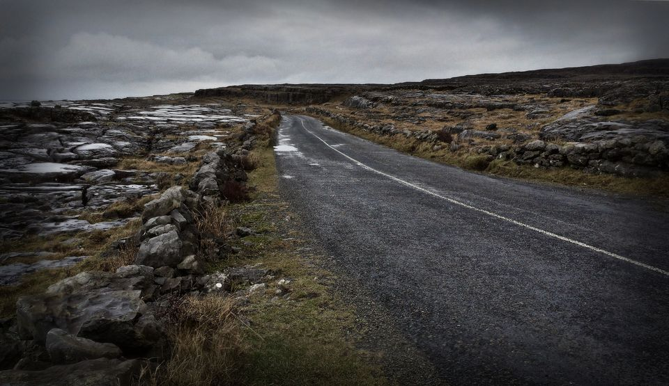The bleakness of the Burren.