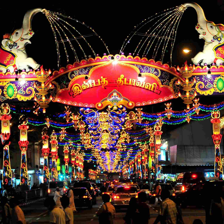 Deepavali Lightup in Little India, Singapore