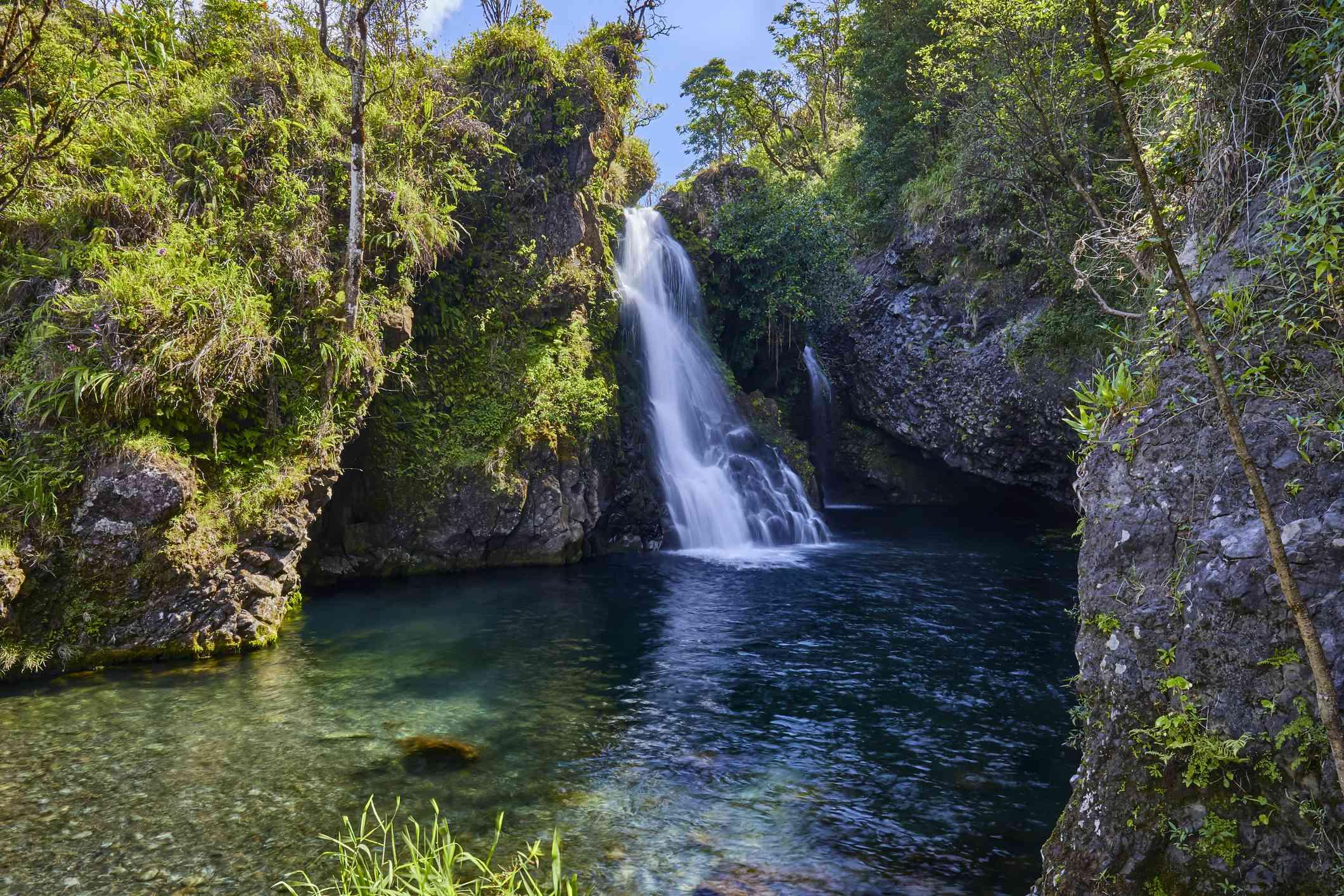 Hanawi falls,Road to Hana,Hana,Maui,Hawaii,USA