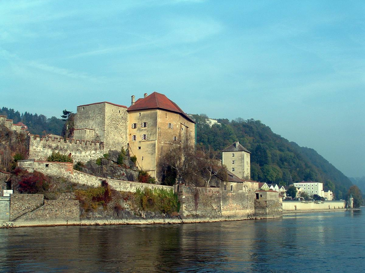 Passau Fortress, the Veste Oberhaus, in Passau, Germany