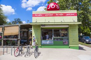 Jo's coffee in the SoCo district of Austin, Texas