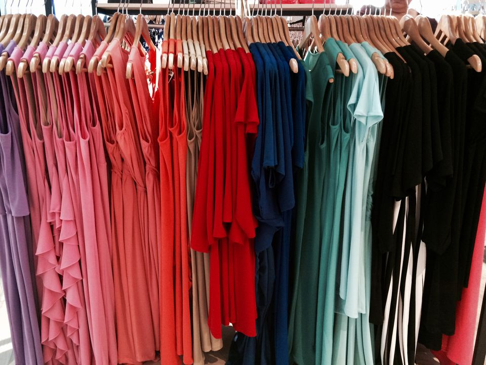 rack of women's clothing