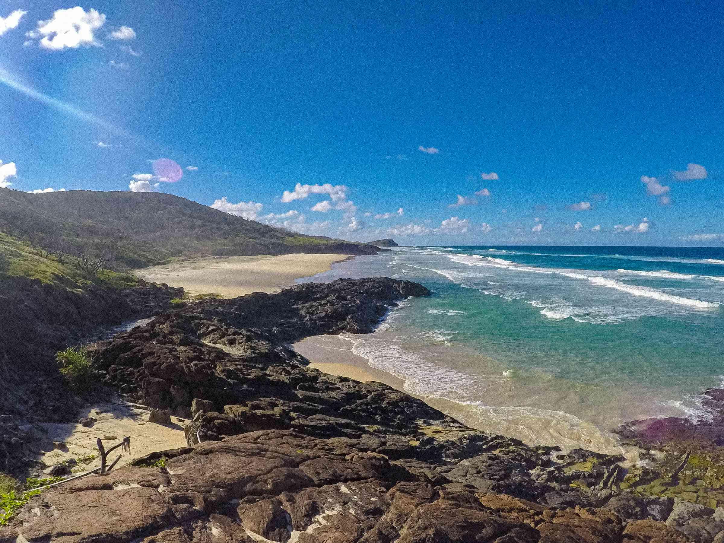 Una playa de arena en la isla Fraser
