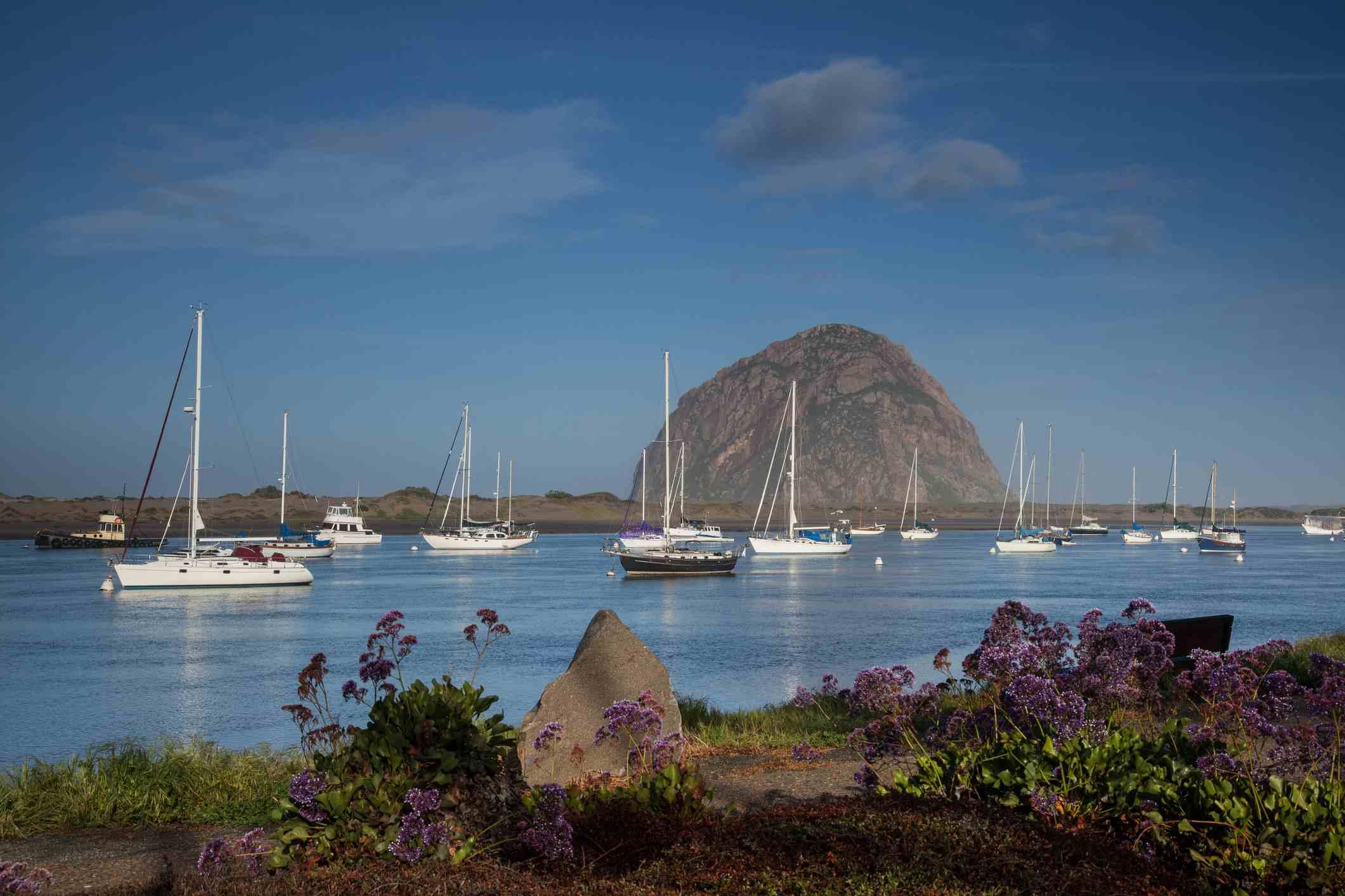 Vista de Morro Rock y Morro Bay