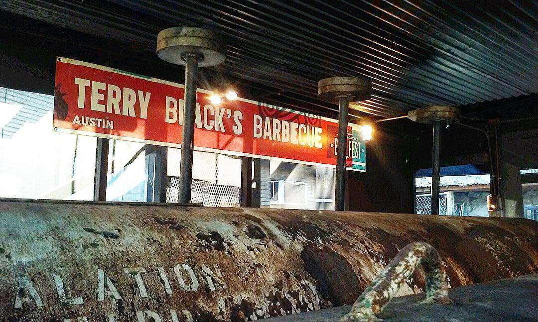 Terry Black's Barbecue pits in Austin, Texas