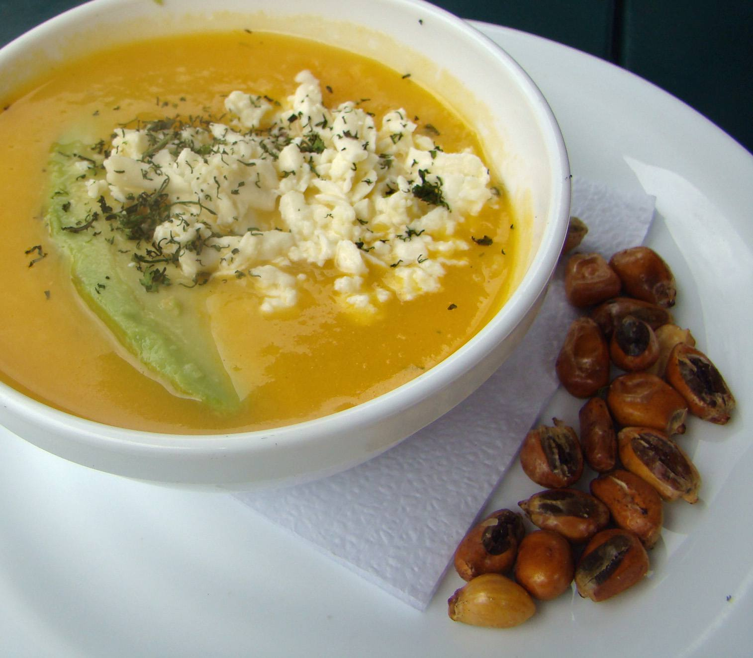 Potato Soup is a favorite dish in Quito.