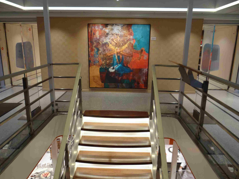 Entry foyer on Viking Astrild on Viking Elbe River cruise ship