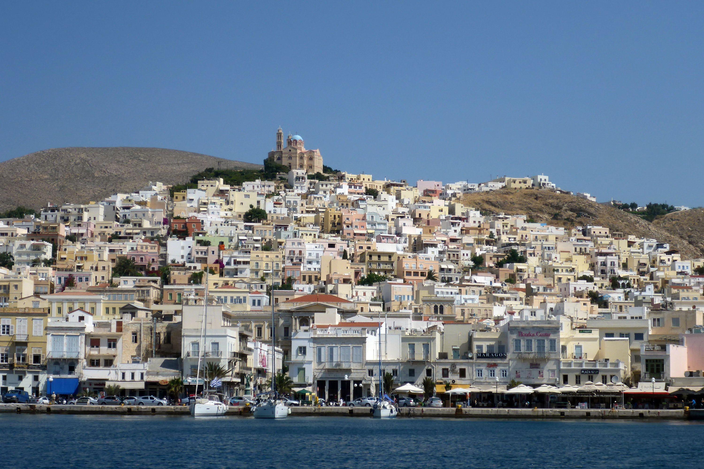 Ermoupolis, Greece on the island of Syros