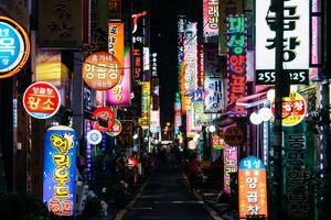 Neon Signs in Busan Nampo-dong Street