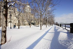 Bonsecours Market in Old Montreal in winter.