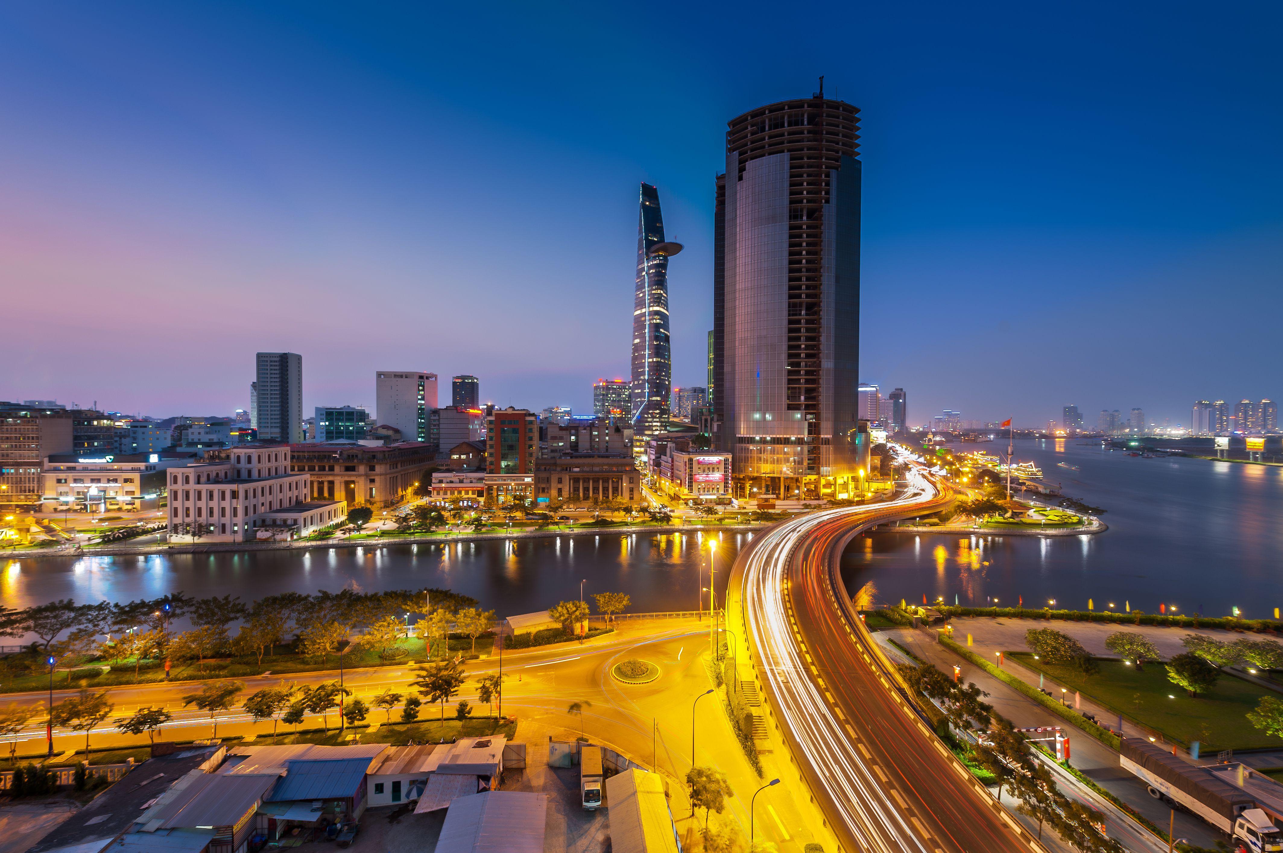 Saigon (Ho Chi Minh City) at night