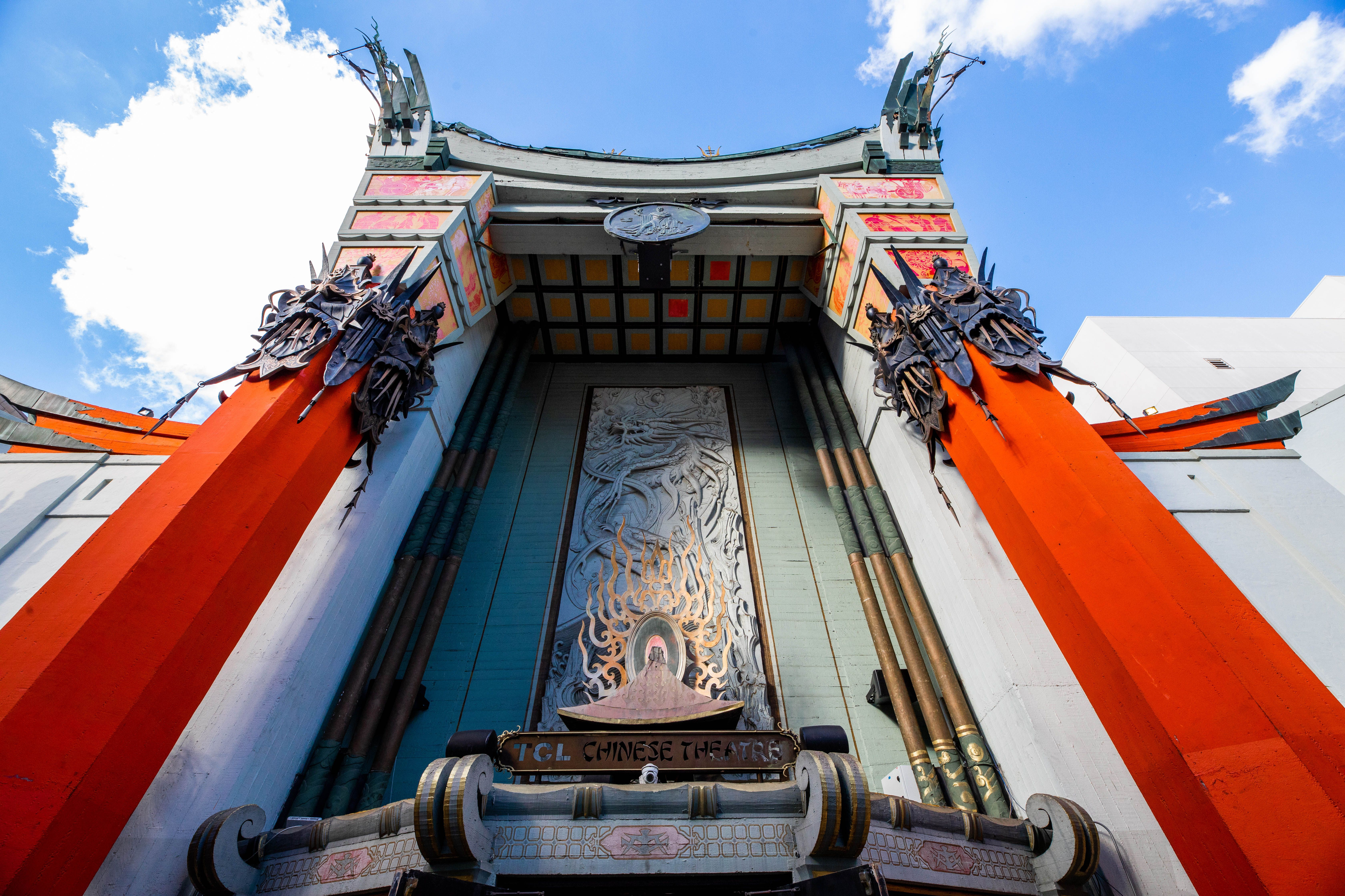 Outside the Grauman's Chinese Theatre
