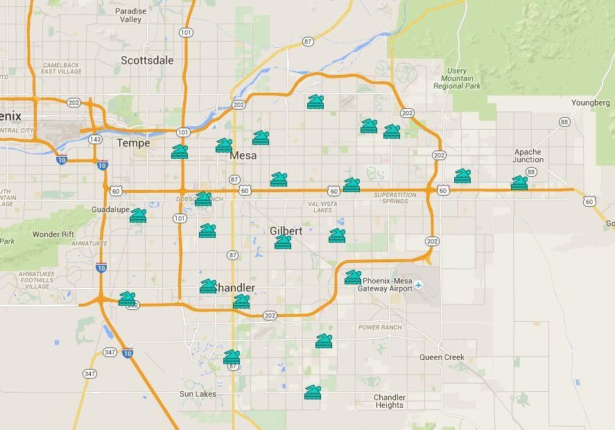 Piscinas públicas de Phoenix East Valley