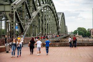 The Hohenzollernbrücke Bridge in Cologne, Germany