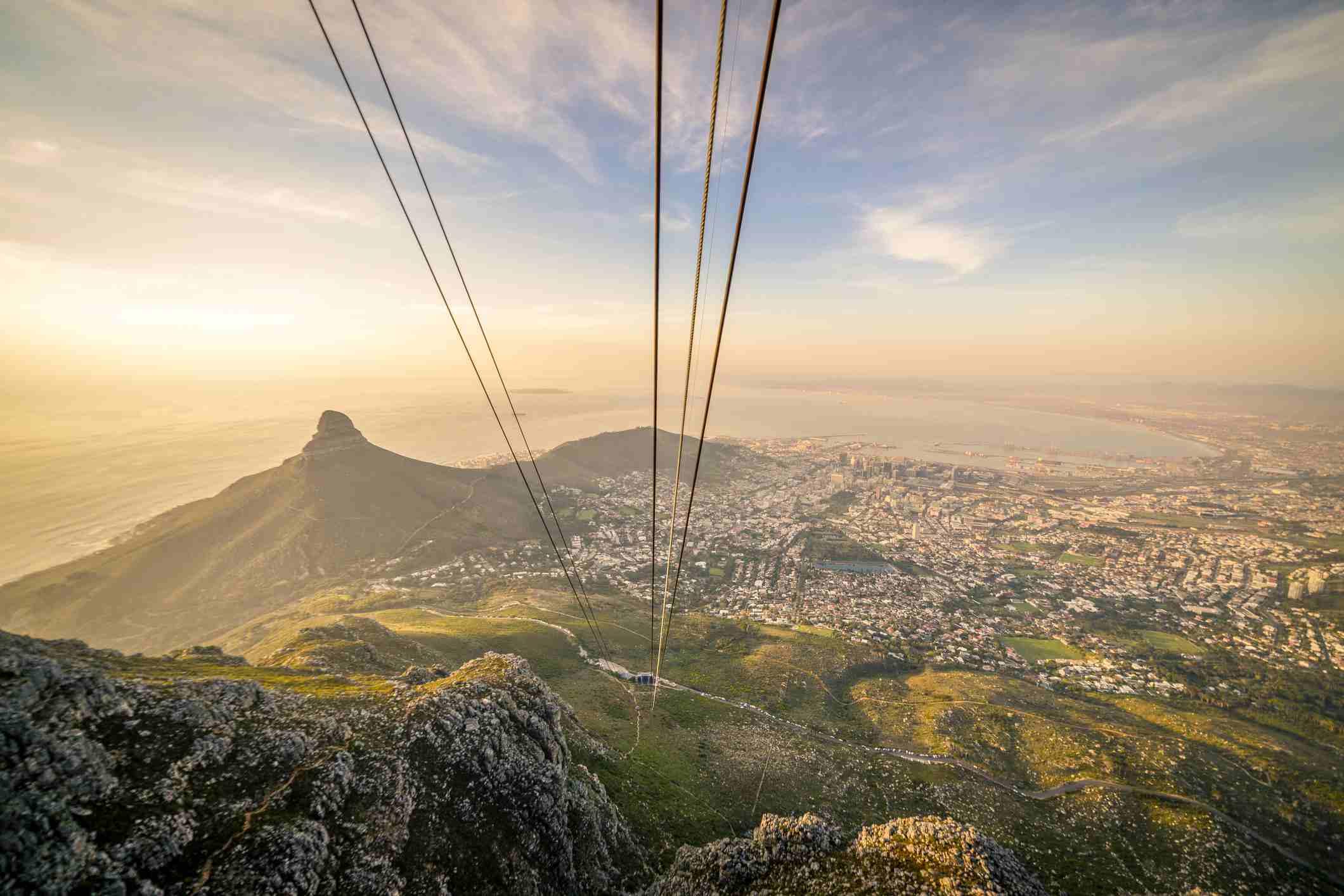 Los diez mejores lugares perfectos para proponer en Sudáfrica Table Mountain