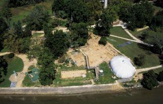 Archeological Excavation Site at Historic Jamestowne