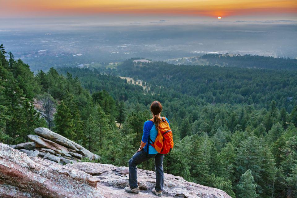 Vista desde el sendero Flatiron de Boulder