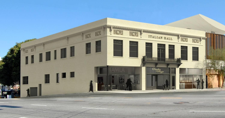 Rendering of the Italian American Museum Los Angeles